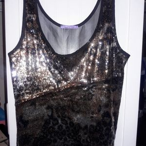 TOP SERPENT SEQUINS SEE THROUGH FROM BACK